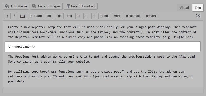 Next Page Text Editor Screenshot