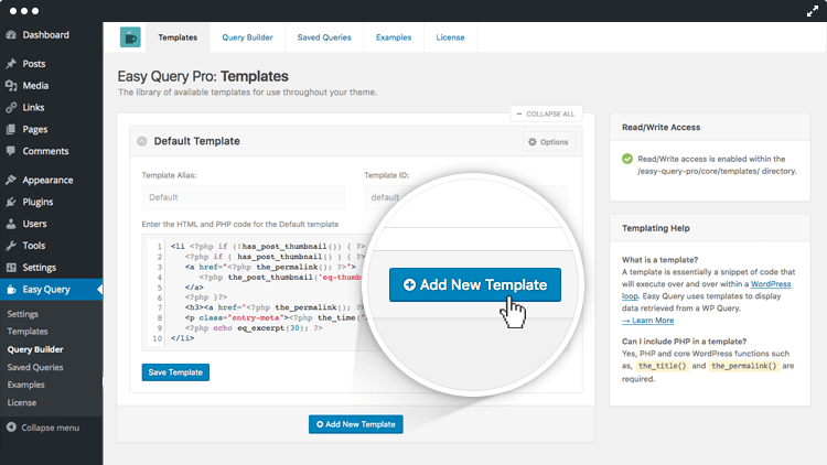 Easy Query Templates in Action