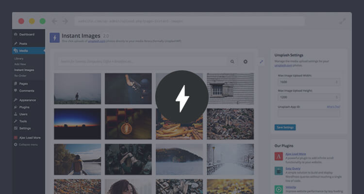 Instant Images WordPress Plugin