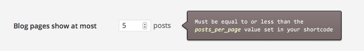 Posts Per Page