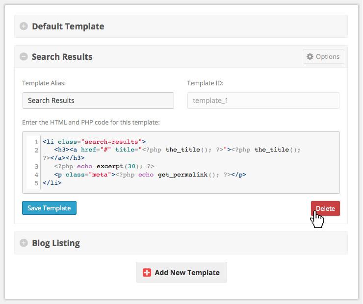 Custom Repeaters Deleting Templates