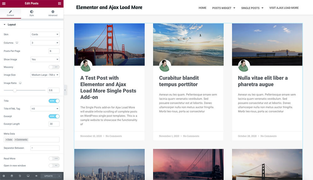 Elementor Posts Widget